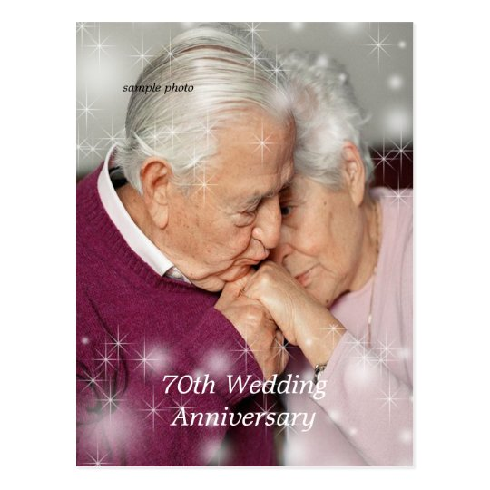 Beautiful, Stars Overlay, Anniversary, Custom Postcard