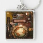 Beautiful Steampunk Personalised Key Chain