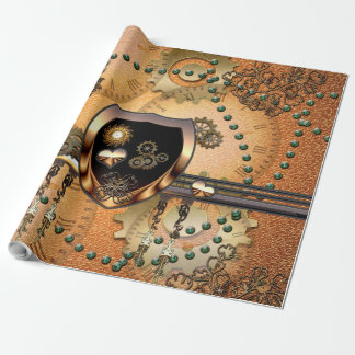 Beautiful steampunk wrapping paper