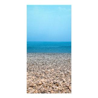 Beautiful Stone Beach Photo Greeting Card