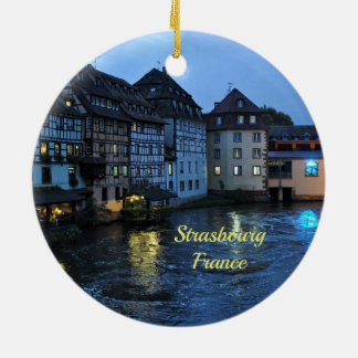 Beautiful Strasbourg, France Christmas Ornament