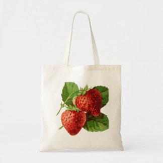 Beautiful Strawberry Fruit Budget Tote