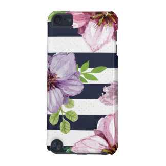 Beautiful striped Flower Design iPod Touch (5th Generation) Case