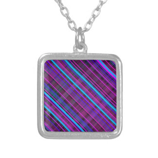 Beautiful stripes small square necklace