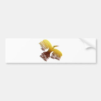 Beautiful Stylized Golden Phoenix Bird Bumper Sticker