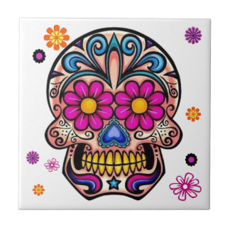 Beautiful Sugar Skull Tile