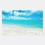 Beautiful Summer Beach Rectangular Sticker