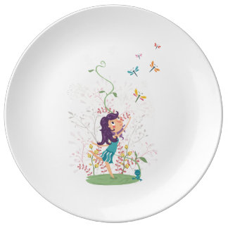 Beautiful Summer Flowers dinner plate