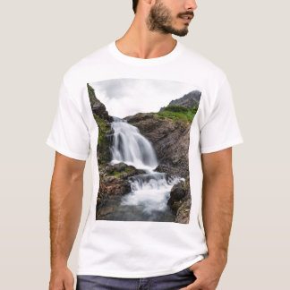 Beautiful summer landscape - mountain waterfall T-Shirt