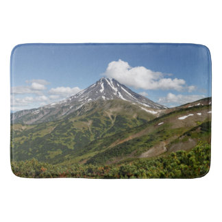 Beautiful summer panorama volcanic landscape bath mats