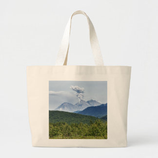 Beautiful summer volcanic landscape of Kamchatka Large Tote Bag