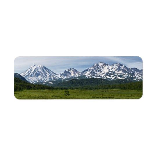 Beautiful summer volcanic landscape of Kamchatka Return Address Label