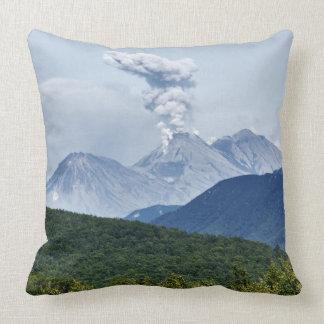 Beautiful summer volcano landscape cushion