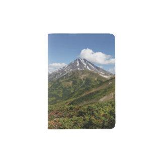 Beautiful summer volcano landscape passport holder