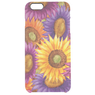 Beautiful Sun Flowers Clear iPhone 6 Plus Case