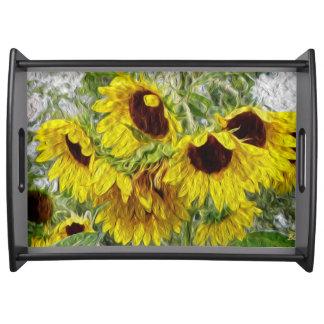 Beautiful Sunflower Morn Serving Tray