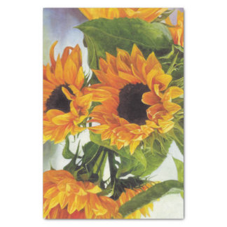 Beautiful Sunflower Painting Tissue Paper