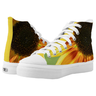 Beautiful sunflower printed shoes