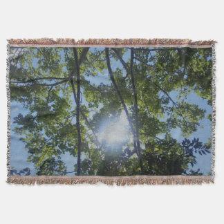 Beautiful Sunny Trees Nature Print Throw Blanket