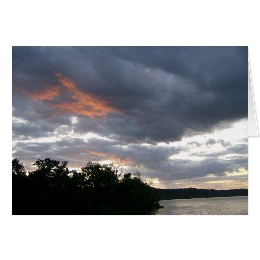 Beautiful Sunrise Along Ohio River cards