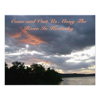 Beautiful Sunrise Along Ohio River cards Invites