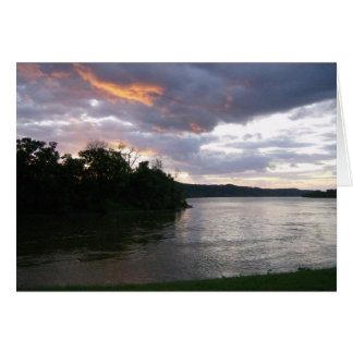 Beautiful Sunrise at Ohio River Cards
