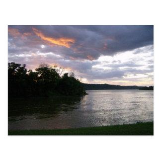 Beautiful Sunrise at Ohio River Post Cards