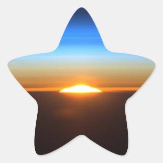 Beautiful sunrise in space star sticker