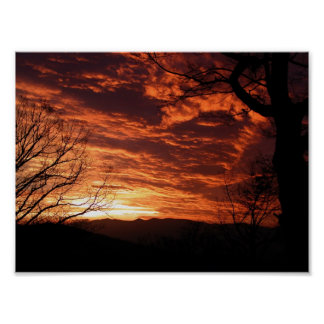 Beautiful Sunrise Scenery Poster