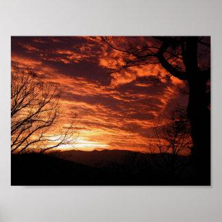 Beautiful Sunrise Scenery Poster