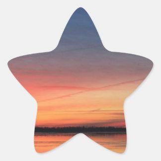 Beautiful Sunrise Star Stickers