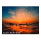 Beautiful sunrises over the ocean in Durban, South Postcard