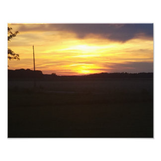 Beautiful Sunset 11x14 photo poster