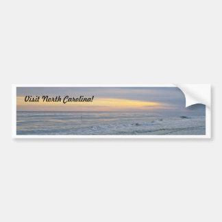 Beautiful Sunset Along Oak Island Bumper Sticker