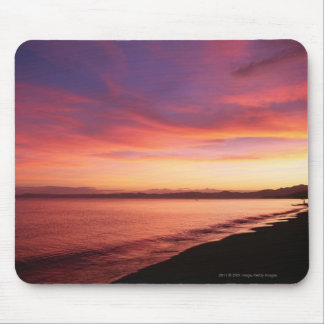 Beautiful sunset at the beach mouse mat