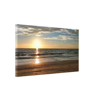 Beautiful Sunset Beach Custom Sized Canvas Print