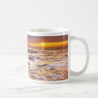 Beautiful Sunset Beach Ocean Waves Mug
