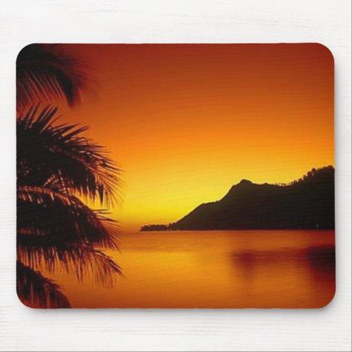 Beautiful Sunset Beach View Mousepads
