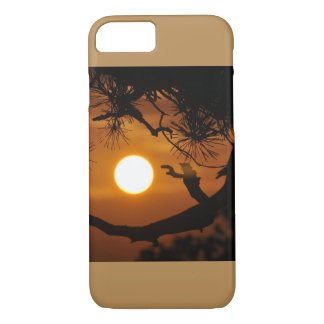 Beautiful Sunset Behinde The Trees Natural Image iPhone 7 Case