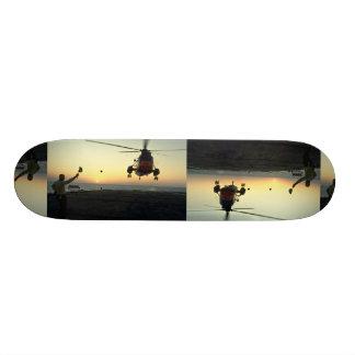 Beautiful Sunset: Canadian Navy, sunset landing, C Skate Board