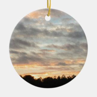 Beautiful Sunset Christmas Ornament