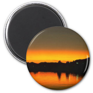 Beautiful Sunset: Colorado River, Parker, Arizona Fridge Magnets