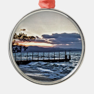 Beautiful Sunset in Montego Bay, Jamaica Christmas Ornament