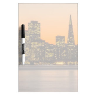 Beautiful sunset in San Francisco Dry Erase Board