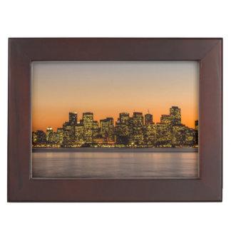 Beautiful sunset in San Francisco Keepsake Boxes