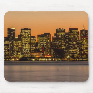 Beautiful sunset in San Francisco Mouse Mat