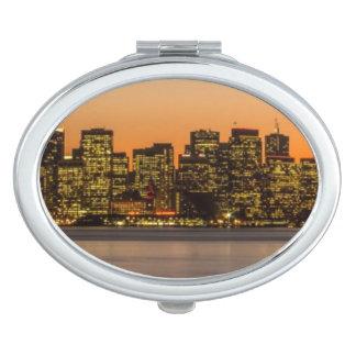 Beautiful sunset in San Francisco Travel Mirror