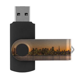 Beautiful sunset in San Francisco USB Flash Drive