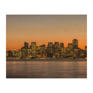 Beautiful sunset in San Francisco Wood Canvases