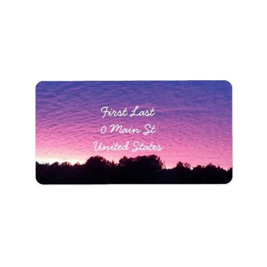 Beautiful Sunset Label